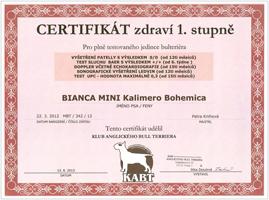 Certifikát zdraví CZDR